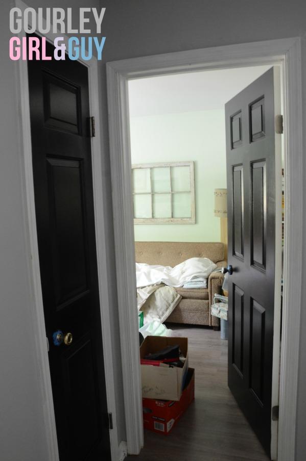 linen-closet-guest-room-black-doors
